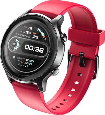 Noise Fit Active Smartwatch(Red Strap, Regular)