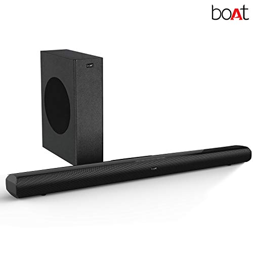boAt Aavante 3000 Soundbar Speaker with Wireless Subwoofer, AUX, USB, Optical, Coaxial and HDMI ARC Mode (Premium Black)