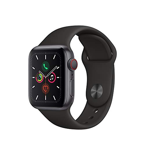 Apple Watch Series 5 (GPS + Cellular, 40mm) - Space Gray Aluminium Case with Black Sport Band
